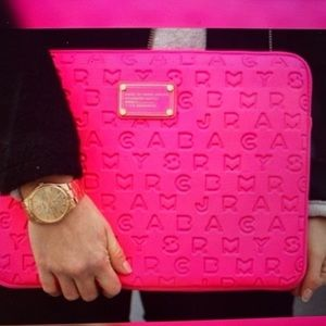 MARC BY MARC JACOBS Hot Pink Laptop Case